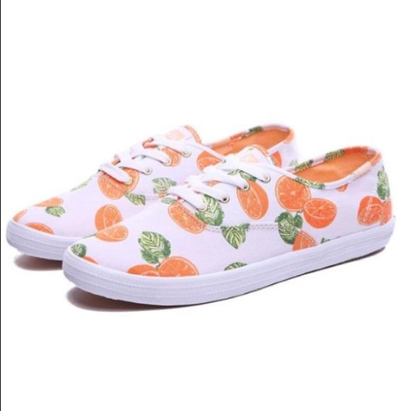 0861d7d03996 •nwot•Keds oranges champion picnic canvas sneaker